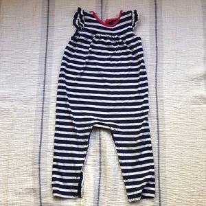 Tea collection striped onesie